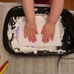 Shaving Cream Swirl Paper