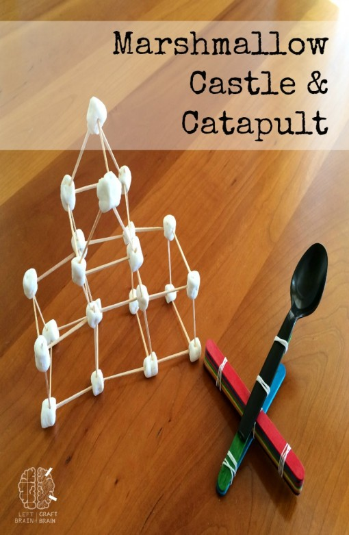 marshmallow castle and catapult craft left brain craft brain