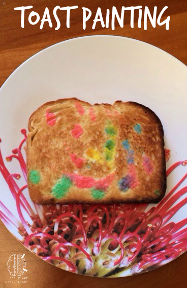 toast painting activity craft left brain craft brain