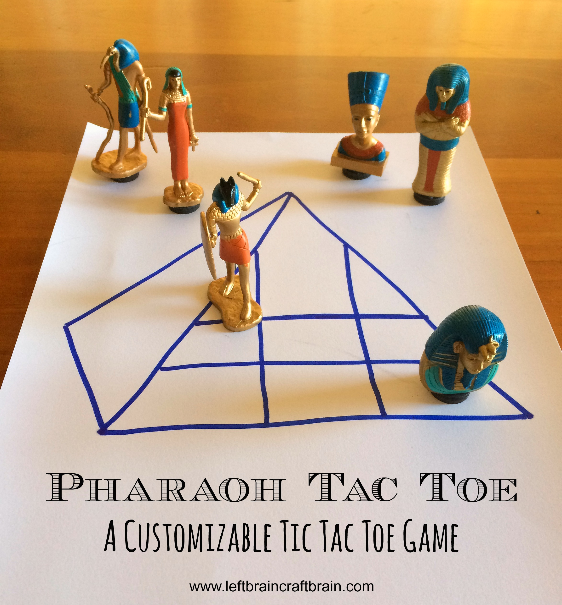 customizable tic tac toe pharaoh tac toe title