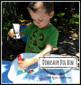 Dinosaur Dig Bin