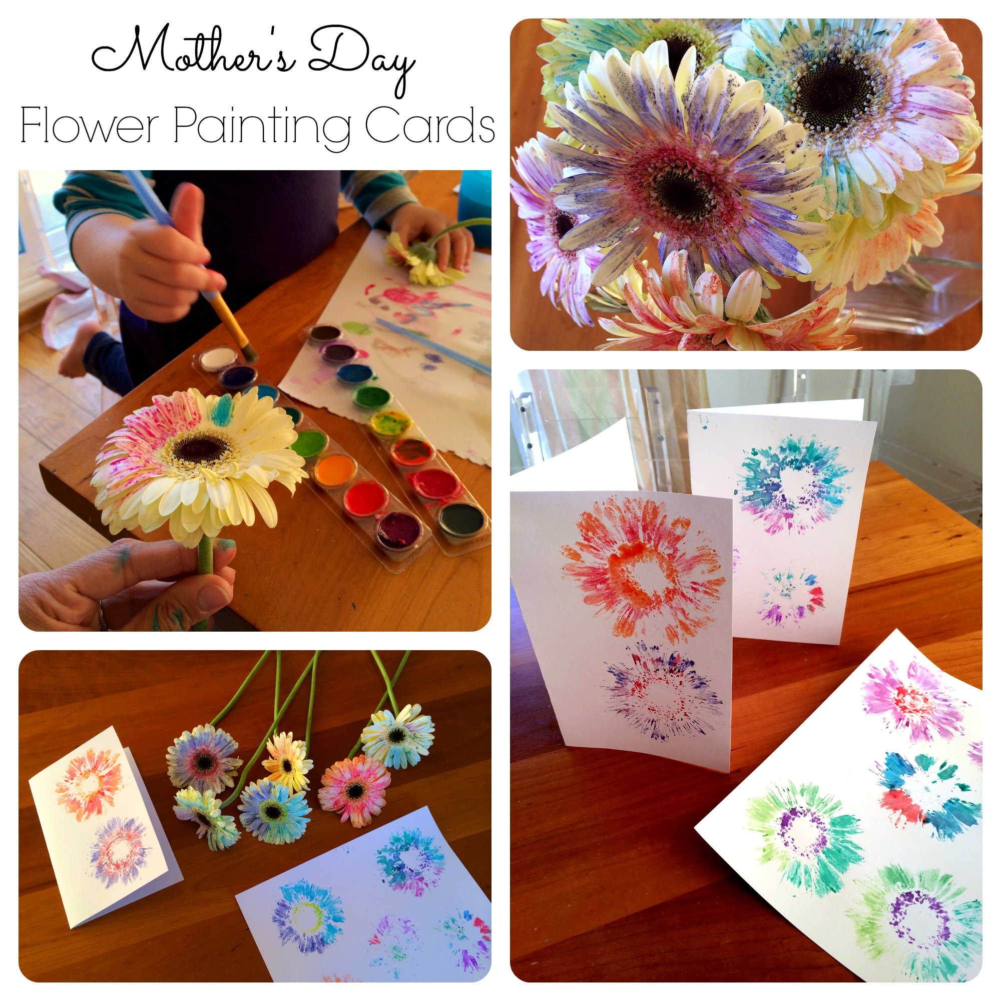 flower painting cards small