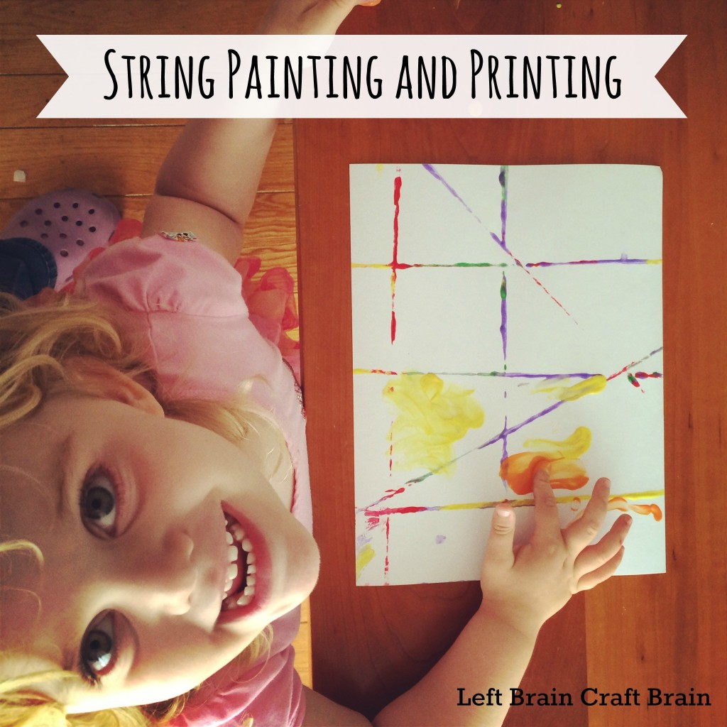 Five Minute Crafts:  String Painting and Printing