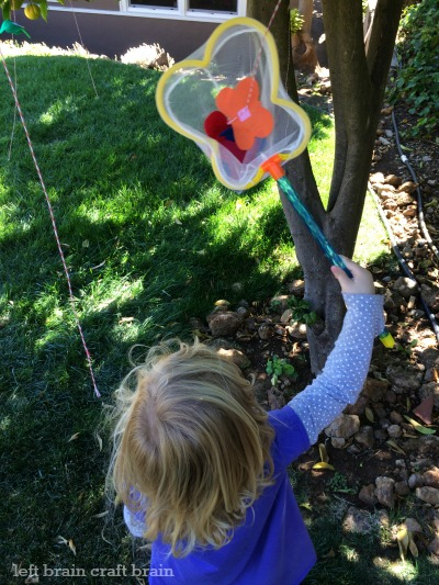 butterfly catch activity game left brain craft brain