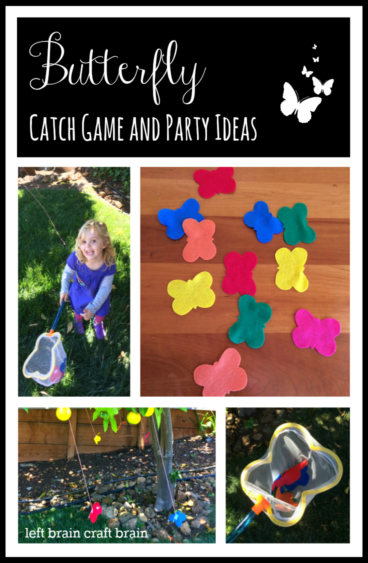 butterfly catch game and birthday party ideas left brain craft brain pinterest