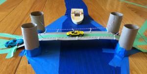 Engineering 201: DIY Recycled Suspension Bridge