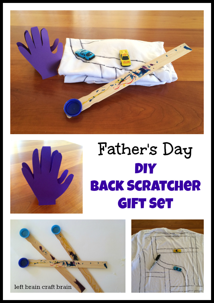 Father S Day Diy Back Scratcher Gift Set Left Brain