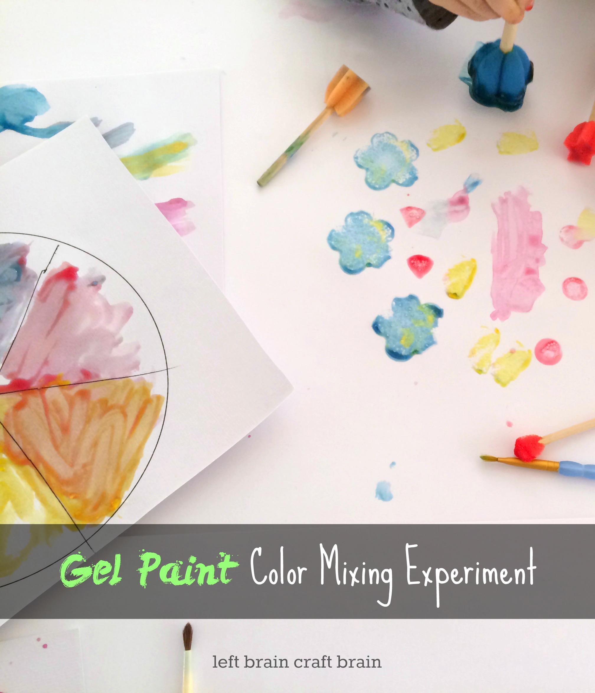 gel paint color mixing experiment left brain craft brain pinterest