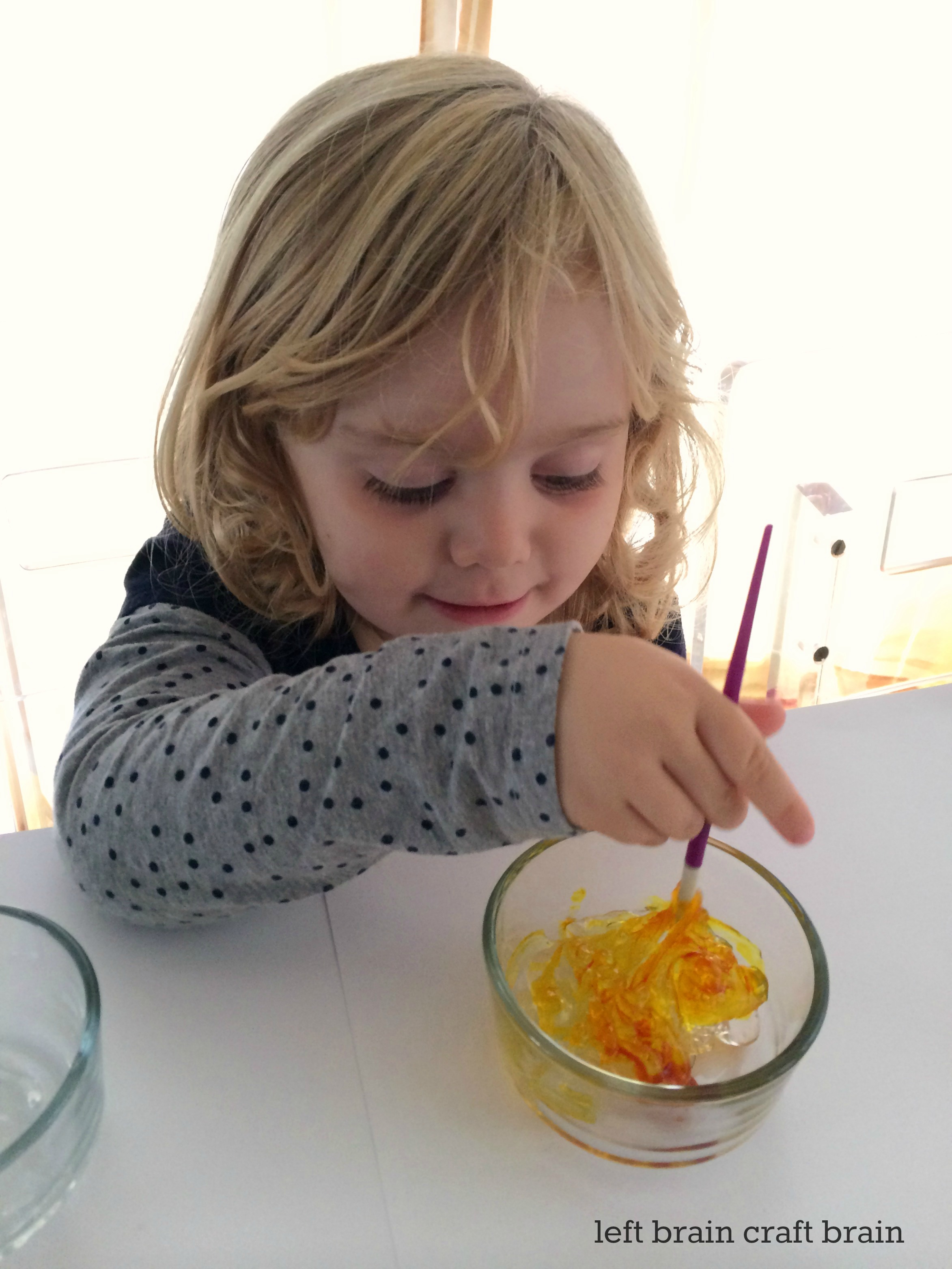 gel paint color mixing left brain craft brain small