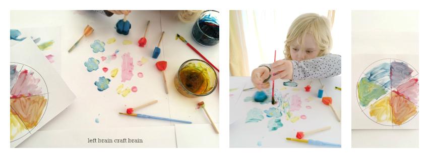 gel paint color wheel left brain craft brain