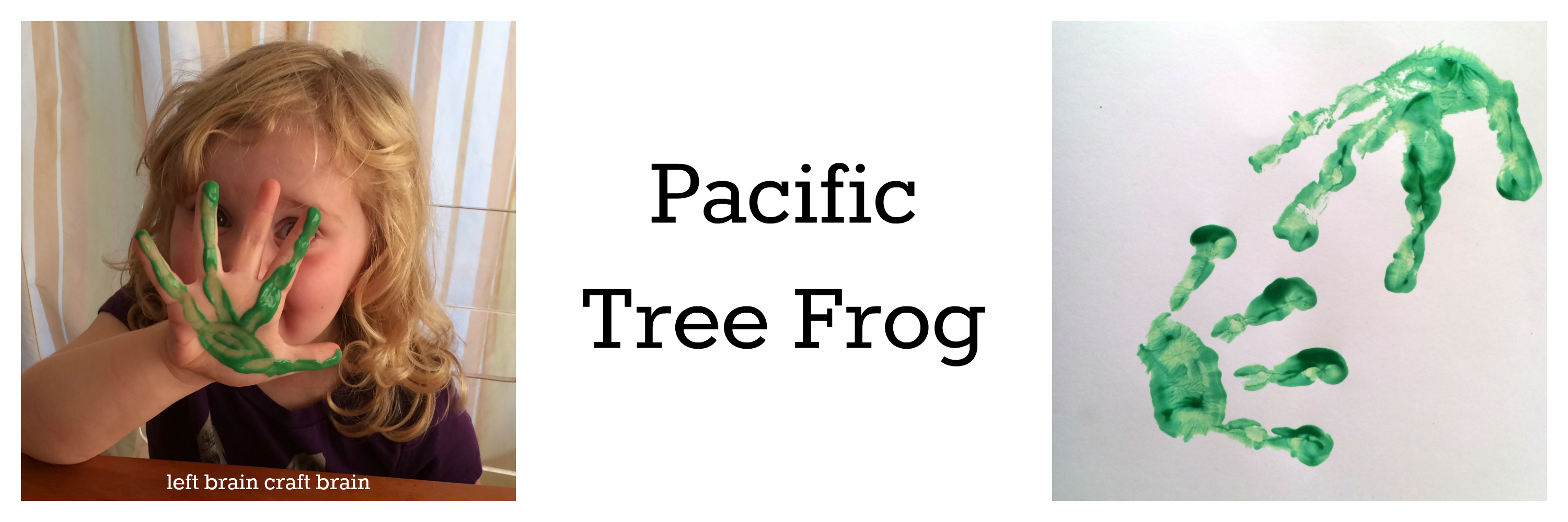 pacific tree frog animal track hand print left brain craft brain
