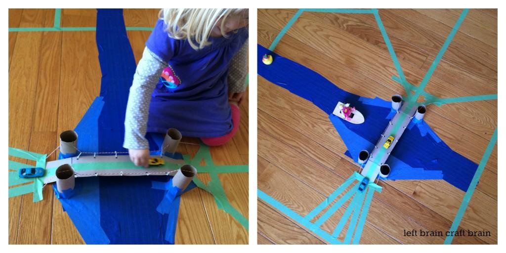 play suspension bridge activity left brain craft brain