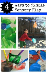 4 Ways to Simple Sensory Play left brain craft brain
