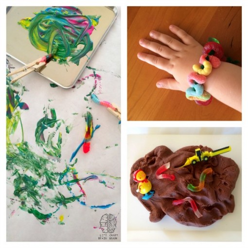 gummy worm crafts left brain craft brain small