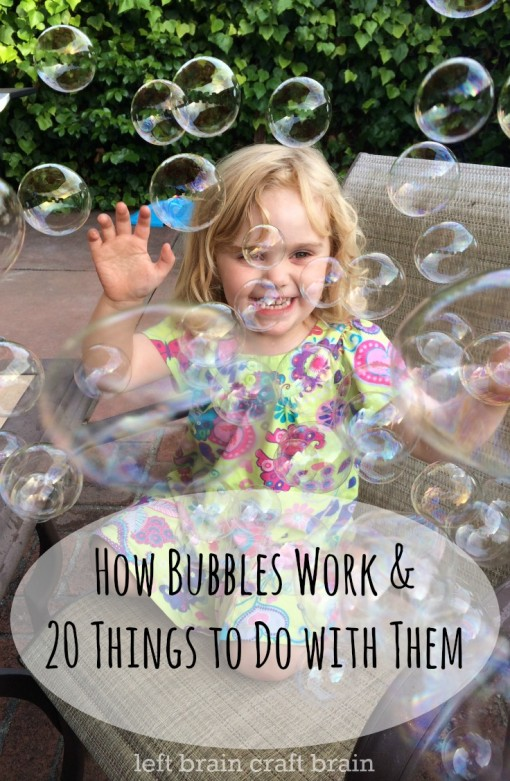 how bubbles work and 20 things to do with them left brain craft brain pin