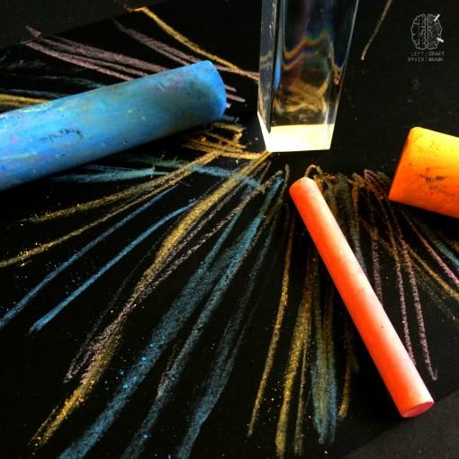 prism chalk art left brain craft brain