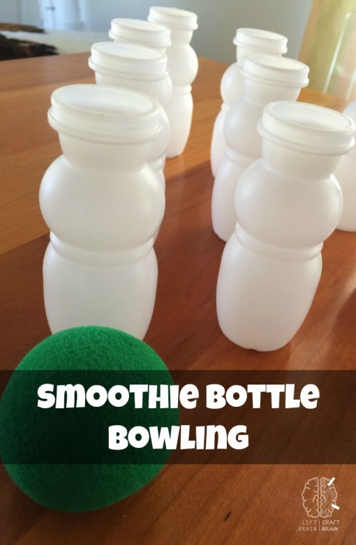 smoothie bottle bowling game activity left brain craft brain