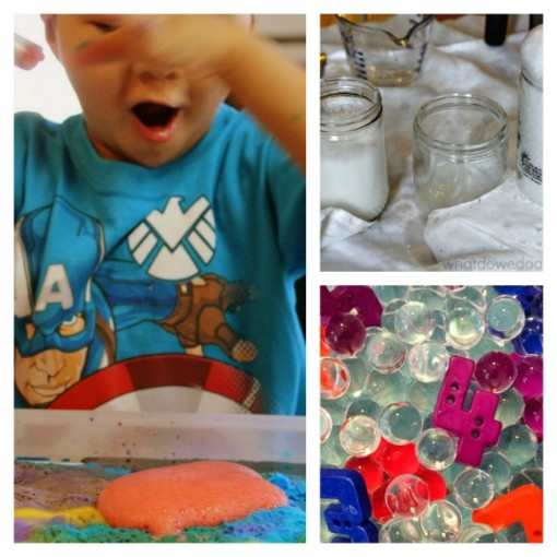 10 STEM activities for preschoolers vinegar baking soda water beads numbers lab Left Brain Craft Brain 650