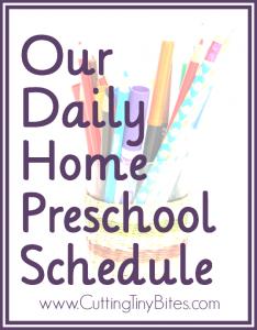 HomePreschoolSchedule