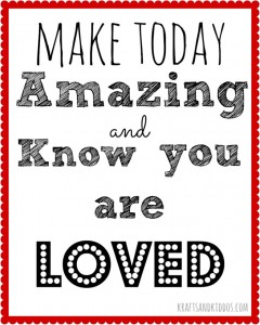 Make-Today-Amazing-School-Printable