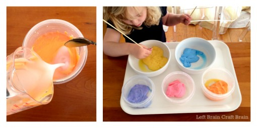 Making the Sunset Slime Left Brain Craft Brain