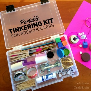 Portable Tinkering Kit for Preschoolers Left Brain Craft Brain FB