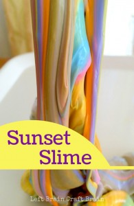 Sunset Slime Left Brain Craft Brain Pin3