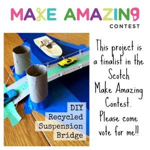 diy recycled suspension bridge left brain craft brain make amazing contest