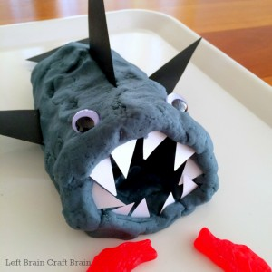 feed the shark geometry play dough left brain craft brain 650x650