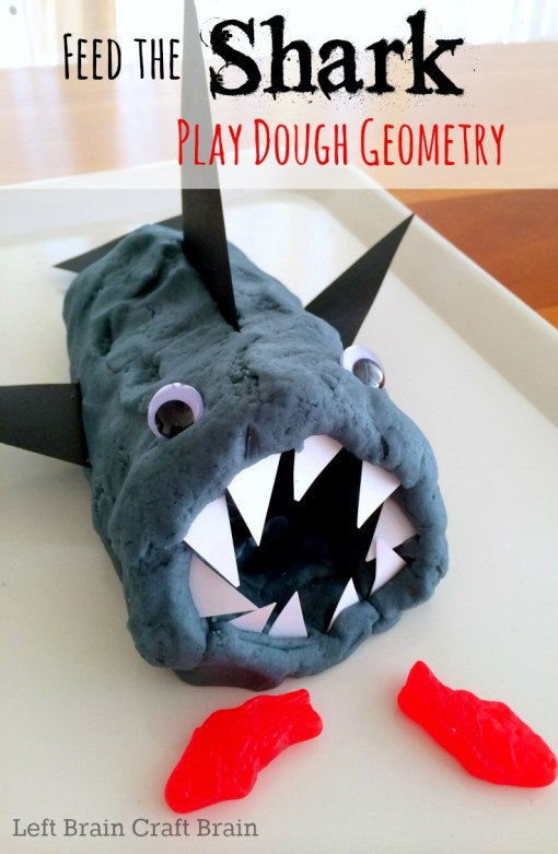 feed the shark play dough geometry left brain craft brain