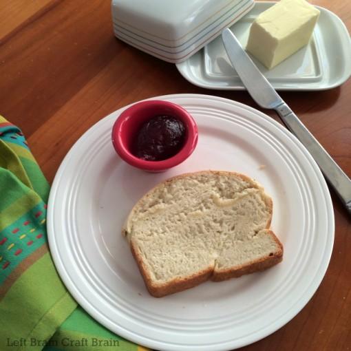 homemade bread butter jam left brain craft brain