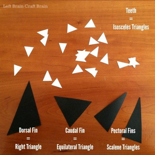 shark play dough triangle types left brain craft brain