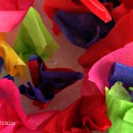 Tissue Paper Sensory Art
