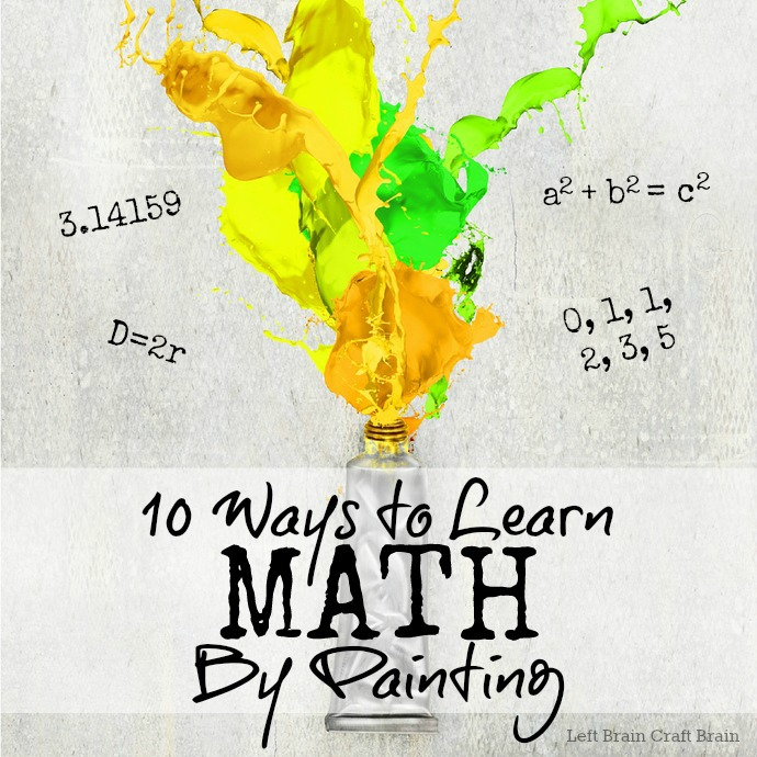 Time to practice math skills? Pull out the paint brush! Here are 10 Ways to Learn Math by Painting. Way better than worksheets!