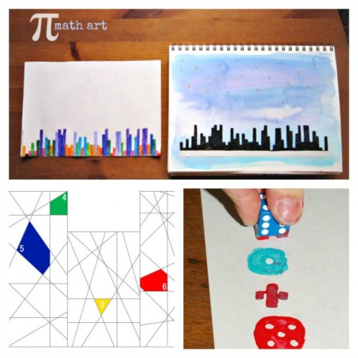 10 Ways to Learn Math by Painting collage 2 Left Brain Craft Brain