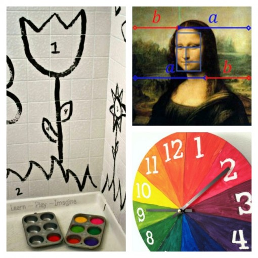10 Ways to Learn Math by Painting collage 3 Left Brain Craft Brain