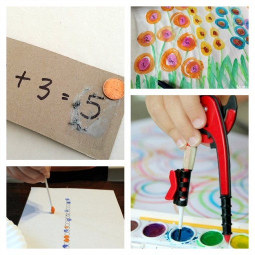 10 ways to learn math by painting collage 1 left brain craft brain