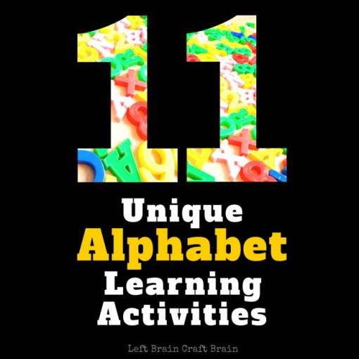 11 Unique Alphabet Learning Activities Left Brain Craft Brain FB