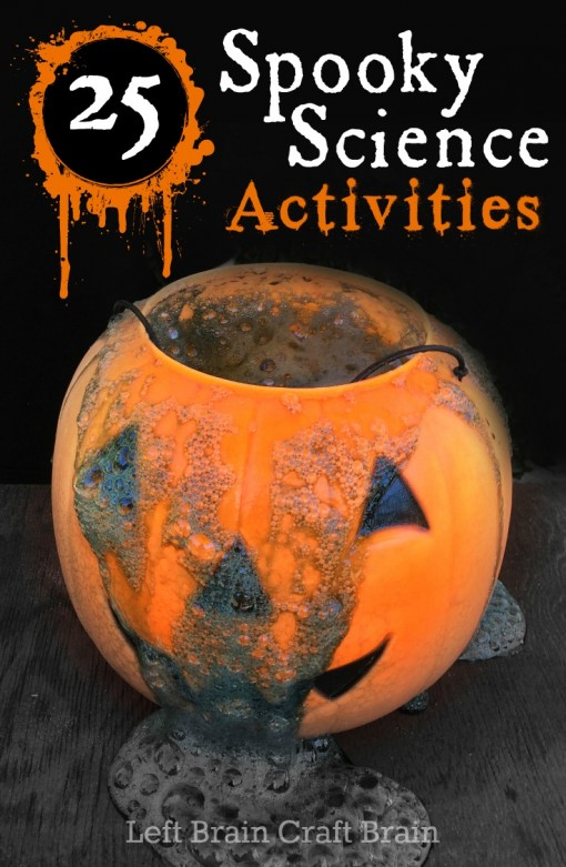 Pumpkins and witches and mad scientists, oh my! It's 25 Spooky Science Activities for Halloween. This huge list of halloween science experiments is perfect for parties or just after school fun for the kids.