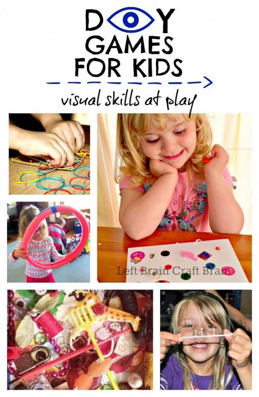 DIY Games for Kids Visual Skills at Play Left Brain Craft Brain