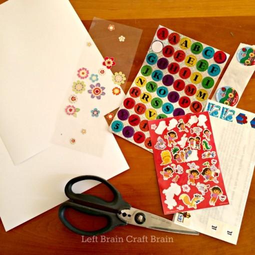 DIY Sticker Seek & Find Supplies Left Brain Craft Brain