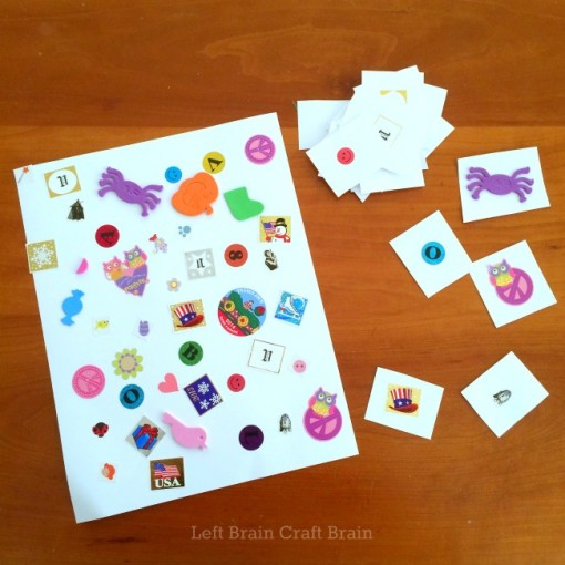 DIY Sticker Seek and Find final game Left Brain Craft Brain
