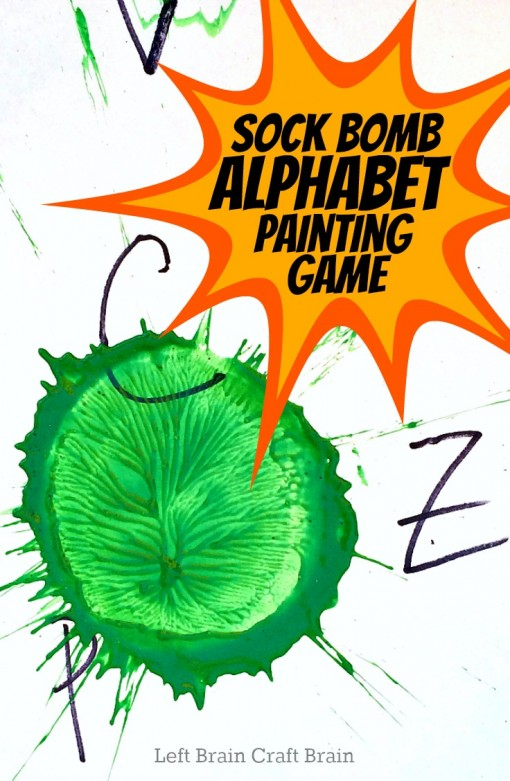Sock Bomb Alphabet Painting Game Left Brain Craft Brain