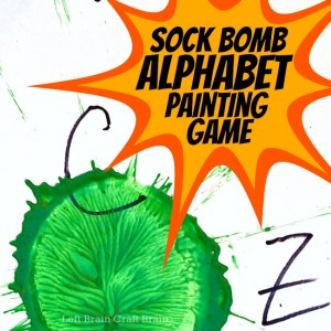 Sock Bomb Alphabet Painting Game Left Brain Craft Brain FB