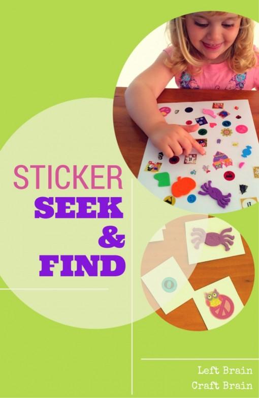 Sticker Seek & Find Left Brain Craft Brain