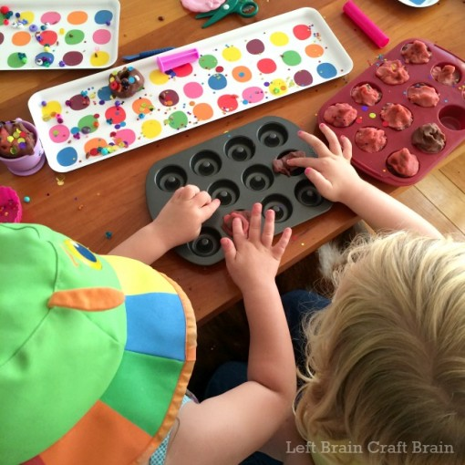 donut shop play dough bakery teamwork left brain craft brain