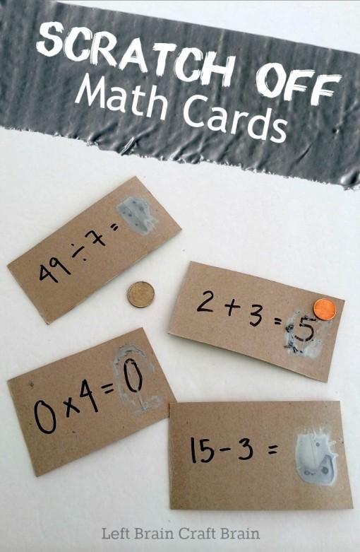 scratch off math cards left brain craft brain