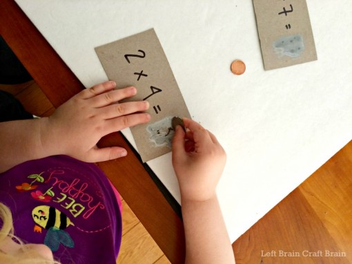 scratching the math cards left brain craft brain