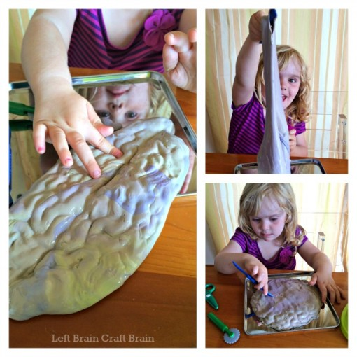 slime brain surgery sensory play left brain craft brain 2