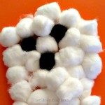 Five Minute Craft:  Cotton Ball Ghost